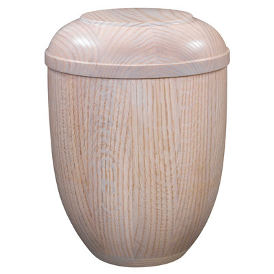 Wooden colored urn